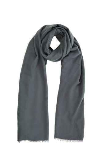 Warehouse, LARGE WRAP SCARF Dark Grey 0