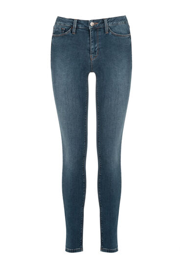 Warehouse, The Skinny Cut Mid Wash Denim 0