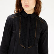 Warehouse, Broderie Mix Shirt Dress Black 4