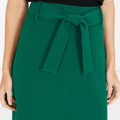 Warehouse, BELTED MIDI SKIRT Bright Green 4