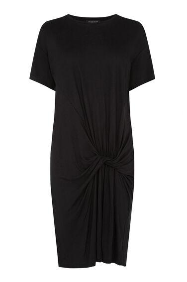 Warehouse, TWIST FRONT DRESS Black 0