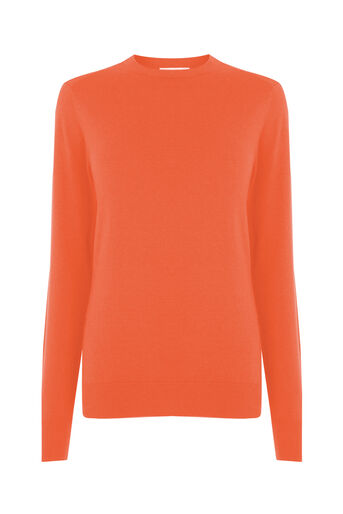 Warehouse, CREW JUMPER Bright Red 0