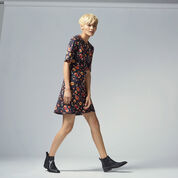 Warehouse, PAINTED FLORAL PONTE DRESS Multi 2