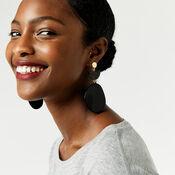 Warehouse, Pebble Drop Earrings Black 1