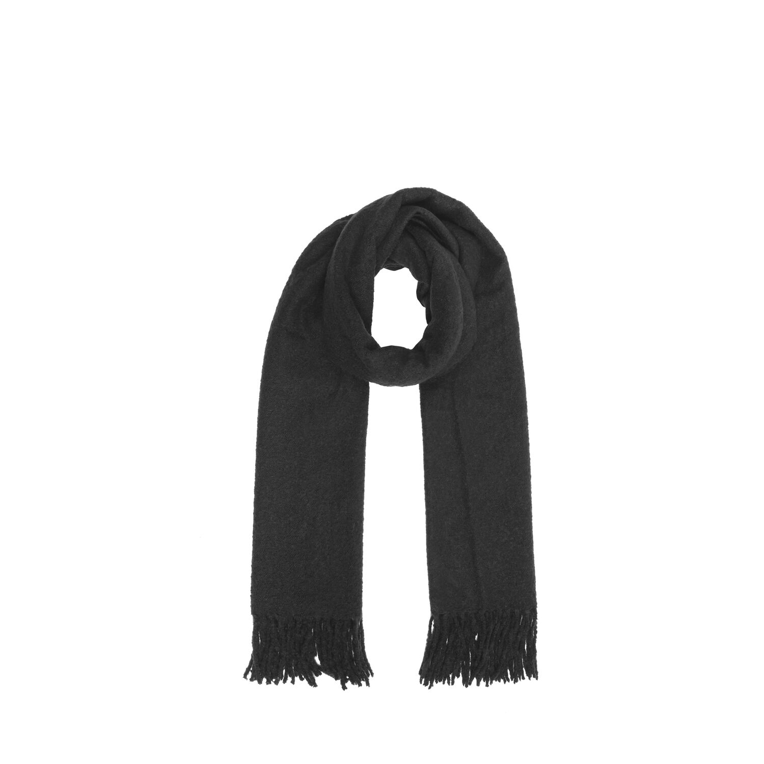 Warehouse, Boucle Scarf Black 1