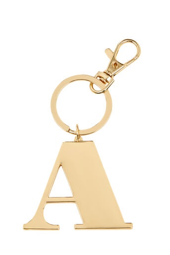 Warehouse, A INITIAL KEYRING Gold Colour 0