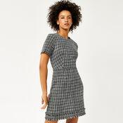 Warehouse, MONO TWEED DRESS Black Pattern 3