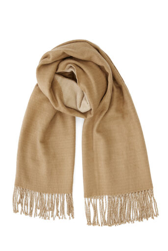 Warehouse, Omkeerbare sjaal Camel 0