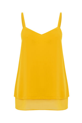 Warehouse, DOUBLE LAYER CAMI Mustard 0