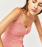 Warehouse, RED GINGHAM DRESS Red Pattern 4
