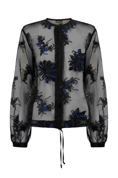 Warehouse, EMBROIDERED BOMBER JACKET Black 0