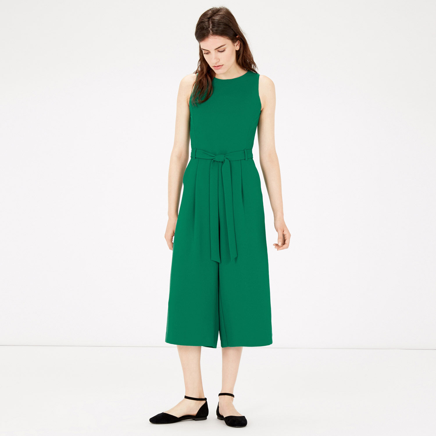 Warehouse, CULOTTE JUMPSUIT Bright Green 1