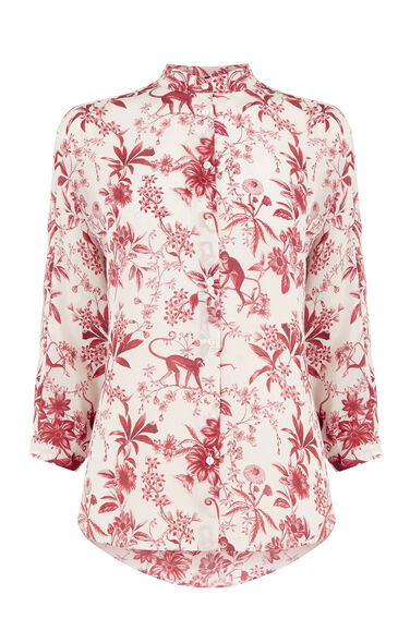 Warehouse, SILK TOILE DE JOUY BLOUSE Multi 0