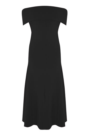 Warehouse, DEEP BARDOT DRESS Black 0