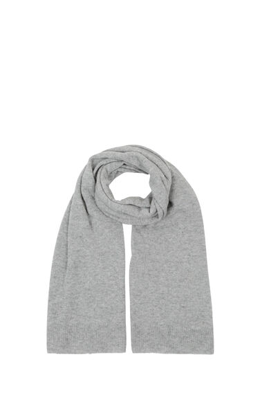 Warehouse, CASHMERE SCARF Light Grey 0