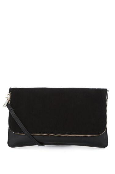 Warehouse, Leather CrossBody Bag Black 0