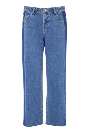 Warehouse, Blocked Jeans Mid Wash Denim 0