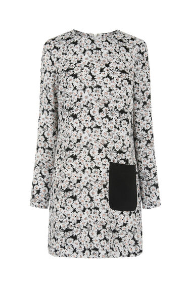 Warehouse, DAISY TUNIC DRESS Pink Pattern 0