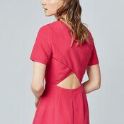 Warehouse, CROSS BACK DRESS Bright Pink 4
