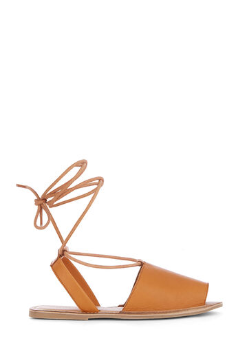 Warehouse, LACE UP 2 PART SANDAL Tan 0