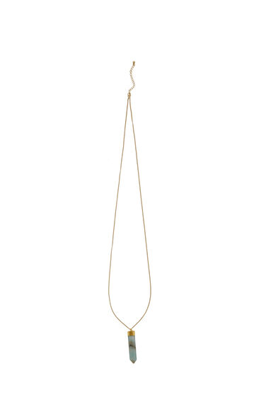Warehouse, Dipped Semi Precious Necklace Gold Colour 0