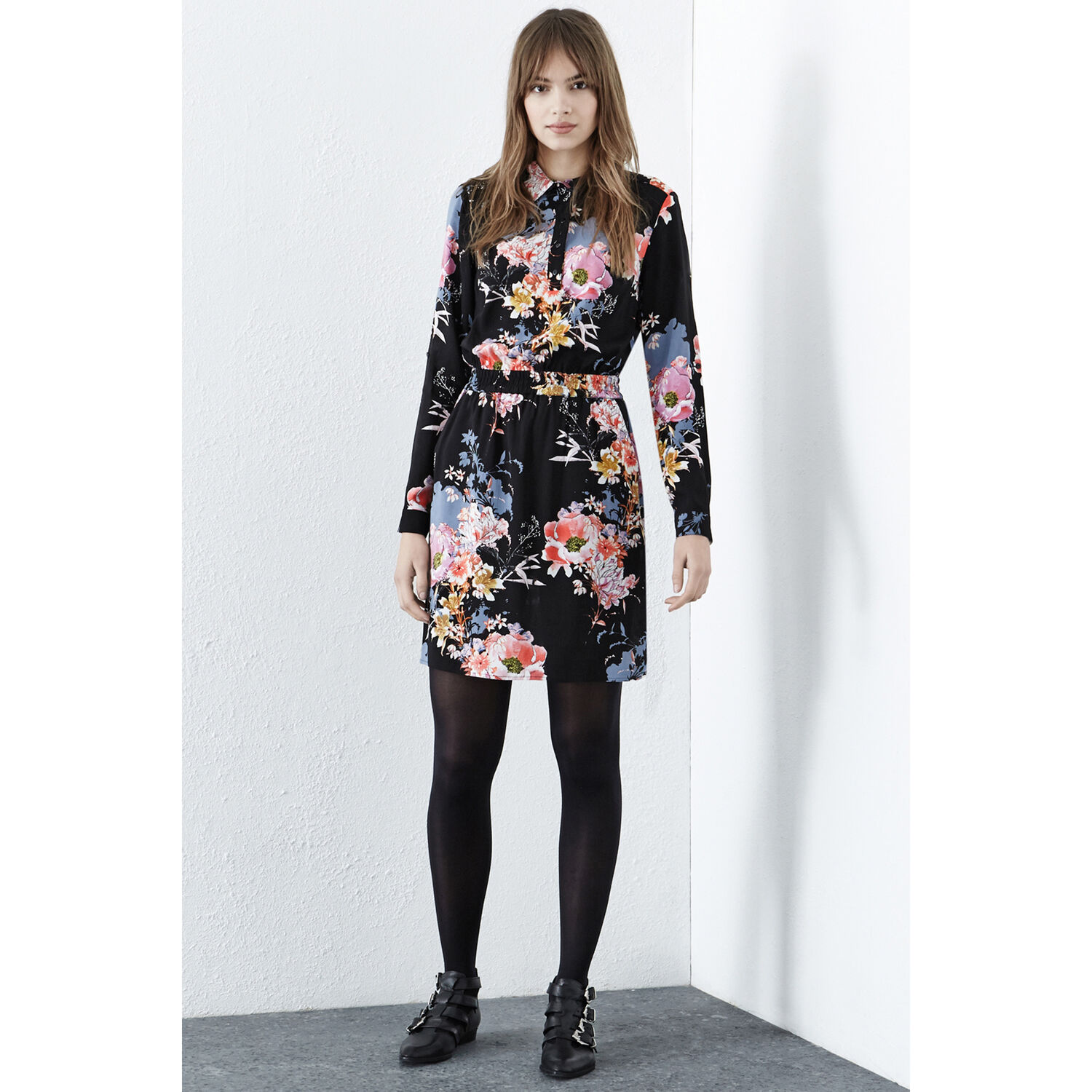 Warehouse, Garden Floral Shirt Dress Multi 1