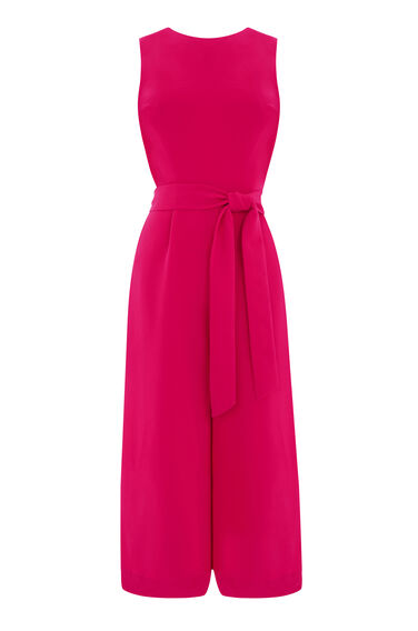 Warehouse, CROSS BACK JUMPSUIT Bright Pink 0