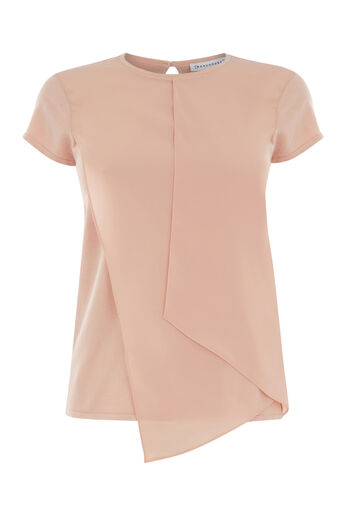 Warehouse, WOVEN MIX TOP Light Pink 0