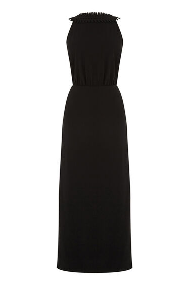 Warehouse, CRISS CROSS V BACK DRESS Black 0