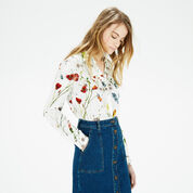 Warehouse, Scatter Floral Shirt Cream 1
