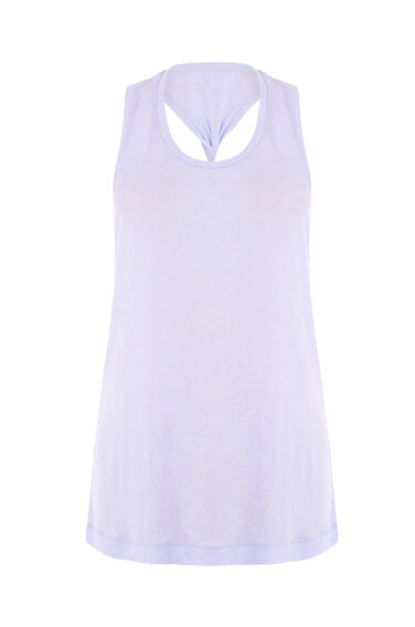 Warehouse, TWIST BACK VEST Lilac 0