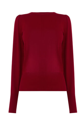 Warehouse, PUFF SLEEVE JUMPER Bright Red 0