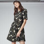 Warehouse, FIREFLY FLIPPY DRESS Black Pattern 1