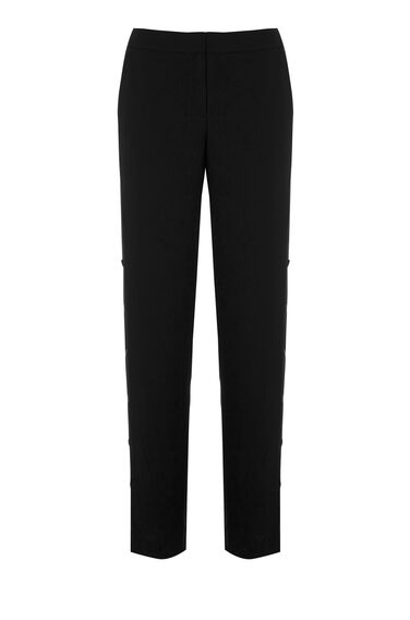 Warehouse, POPPER SIDE TROUSER Black 0