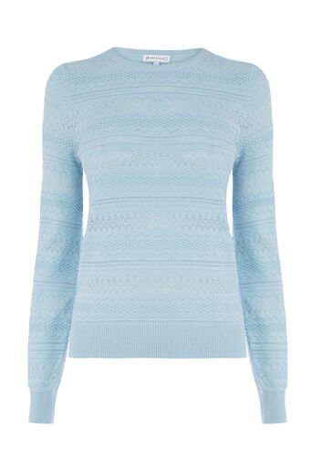 Warehouse, PRETTY STITCH JUMPER Light Blue 0