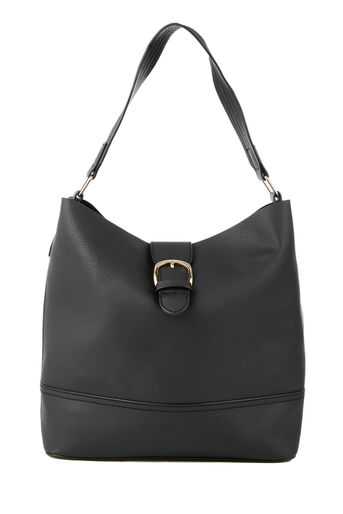 Warehouse, BUCKLE TAB TOTE BAG Black 0
