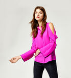 Warehouse, OPEN COLD SHOULDER SHIRT Bright Pink 1