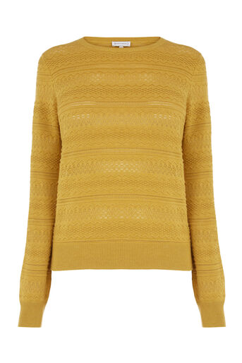 Warehouse, PRETTY STITCH JUMPER Mustard 0