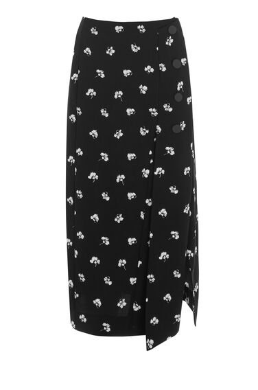 Warehouse, DANDY MONO SKIRT Black Pattern 0