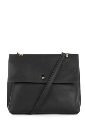 Warehouse, KEYHOLE SATCHEL Black 0