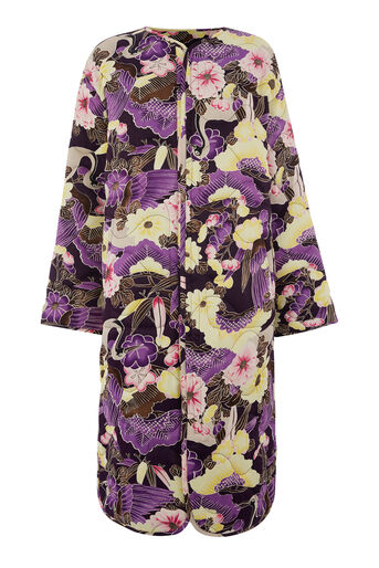 Warehouse, ORCHID  PRINT REVERSIBLE COAT Multi 0