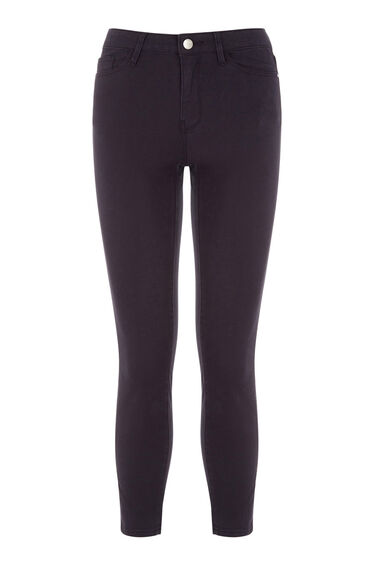 Warehouse, Cropped Signature Skinny Jeans Navy 0