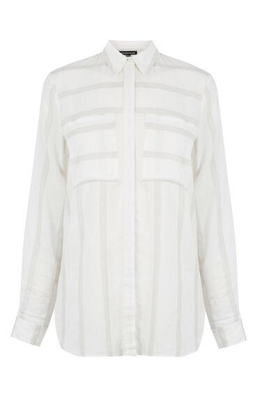 Warehouse, Relaxed Textured Stripe Shirt Neutral Stripe 0