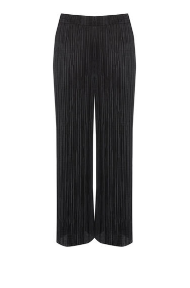 Warehouse, PLISSE TROUSERS Black 0