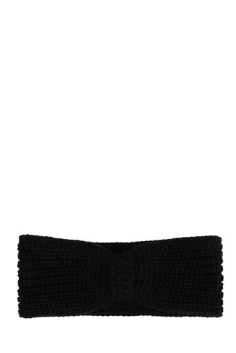 Warehouse, KNITTED RIBBED HEADBAND Black 0
