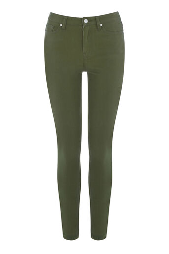 Warehouse, Crop Skinny Cut Jeans Khaki 0