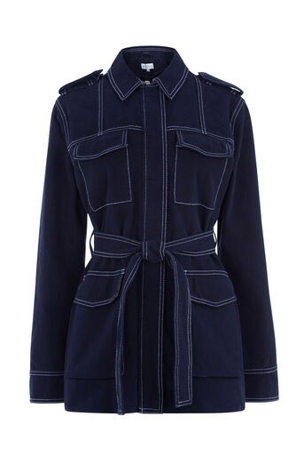 Warehouse, Top Stitch Jacket Navy 0