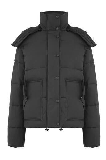 Warehouse, POCKET DETAIL PADDED COAT Black 0