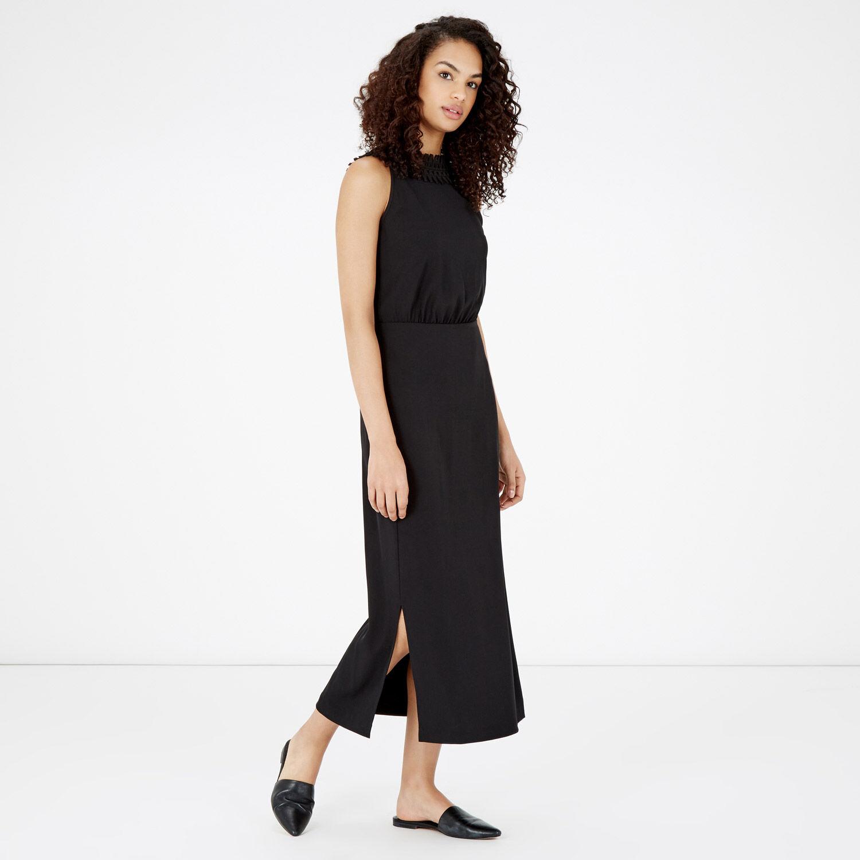 Warehouse, CRISS CROSS V BACK DRESS Black 1