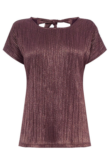 Warehouse, CRINKLE TEE Berry 0